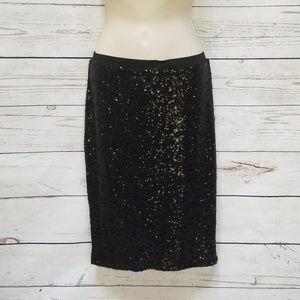 The Limited Black Sequin Pencil Skirt